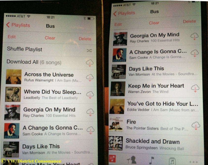 Steve's playlist includes Rufus Wainwright, Ray Charles, Leadbelly, Sam Cooke, and Springsteen.