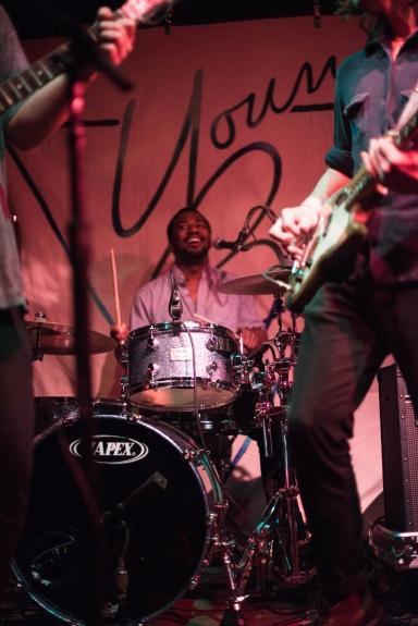 Tim Burkhead on drums.