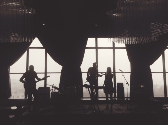 soundcheck at the W