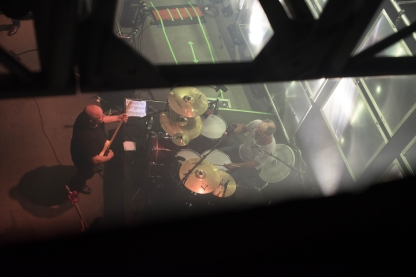 A bird's eye/backstage view of The Pixies.
